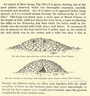 Prehistory of West Virginia - Kanawha Valley rock piles near earlier mounds