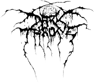 """Darkthrone - The Darkthrone logo, as it has appeared on the band's releases since its first album, Soulside Journey. It was designed by Tassilo Förg, Gylve """"Fenriz"""" Nagell and Tomas Lindberg of Grotesque/At the Gates."""
