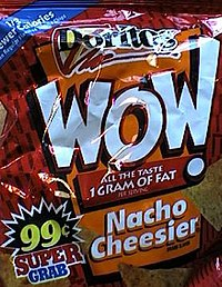 A bag of Nacho Cheesier Doritos WOW from 1998