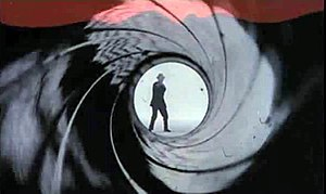 Outline of James Bond - Gun barrel sequence.