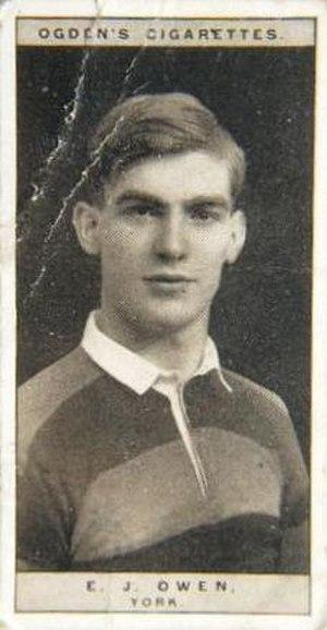 Edward Owen (rugby) - Ogden's Cigarette card featuring Edward James Owen
