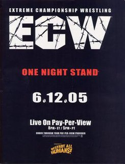 ECW One Night Stand (2005) 2005 World Wrestling Entertainment pay-per-view event