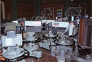 EMI 2001 - EMI 2001s on their last day in BBC Elstree Studio C in July 1991. The last programme in the world to use EMI 2001s to record images was EastEnders
