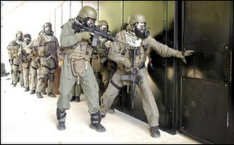 FBI Special Weapons and Tactics Teams - Atlanta FBI SWAT officers performing a door breaching during a training exercise