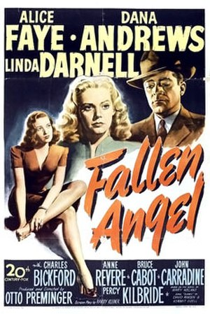 Fallen Angel (1945 film) - Theatrical release poster