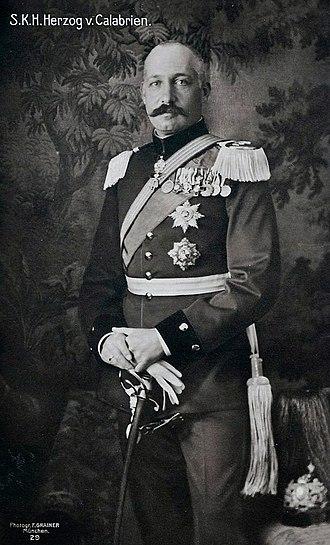 Prince Ferdinand Pius, Duke of Calabria - Image: Ferdinando Pius