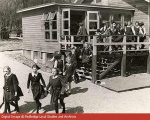 HM Prison Finnamore Wood - Sourced from Redbridge Local Studies - Demonstrating Evacuees Arriving at Finnamore Wood 1940