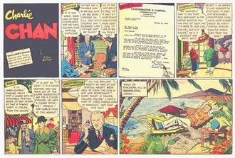 McNaught Syndicate - First episode of Alfred Andriola's Charlie Chan Sunday comic strip (October 30, 1938), distributed by the McNaught Syndicate. The daily strip began earlier that week (October 24, 1938).