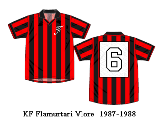Flamurtari Vlorë - Flamurtari kits during 1987–88 season.