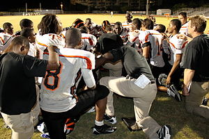 Archbishop Curley-Notre Dame High School - Inside the Knights huddle.