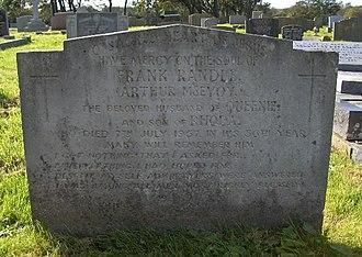 Carleton Crematorium and Cemetery - Image: Frankrandle'sgrave