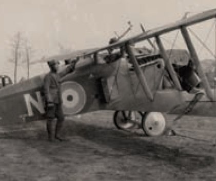 Frederic Ives Lord and his Sopwith Dolphin (April of 1918)