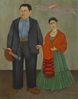 <i>Frieda and Diego Rivera</i> Painting by Frida Kahlo