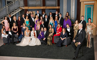 General Hospital - The 50th anniversary (2012–13) official cast photo of General Hospital. Front row : Anthony Geary Second row (l-r): Vanessa Marcil, Maurice Benard, Kelly Sullivan, Leslie Charleson, Laura Wright, Jane Elliot, Brooklyn Rae Silzer, Jason Thompson, Kelly Monaco, Nancy Lee Grahn, Genie Francis, Kin Shriner, Finola Hughes  Third row: Kirsten Storms, Bradford Anderson Fourth row: Teresa Castillo, Marc Anthony Samuel, Robin Mattson, Jacklyn Zeman, Sean Kanan, Lisa LoCicero, John J. York, Kristina Wagner, Rebecca Herbst, Dominic Zamprogna, Emme Rylan, Emily Wilson, Chad Duell, Sonya Eddy, Ian Buchanan, Lynn Herring  Back row: Jimmy Deshler, Haley Pullos, Drew Cheetwood, Sean Blakemore, Tyler Christopher, Derk Cheetwood, Kelly Thiebaud.