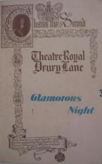 Glamorous Night - Original Drury Lane programme