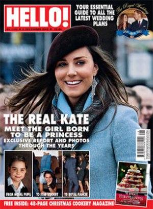 Hello! (magazine) - Kate Middleton on the cover of Hello, December 2010