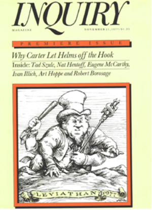 Inquiry (magazine) - Cover of first issue