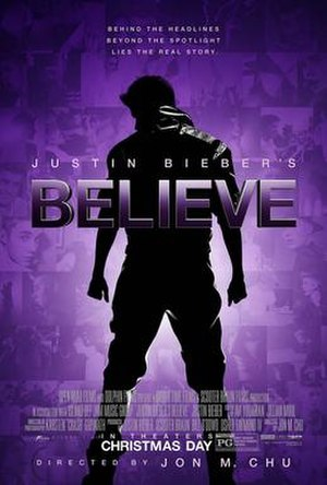 Justin Bieber's Believe - Theatrical release poster