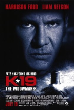Harrison Ford glaring at the viewer with angry stare while his and Liam Neeson's names are written above him while the film's title, credits, tagline and release beneath him.