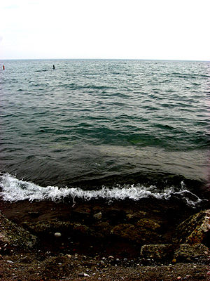 Lake Ontario at the Beaches in Toronto in May ...