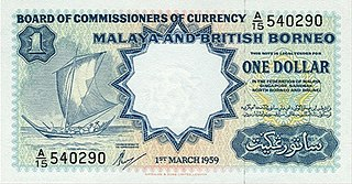 Malaya and British Borneo dollar Former currency that existed for use in Malaya and in North Borneo.