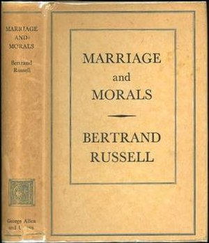 Marriage and Morals - First edition (publ. Allen & Unwin)