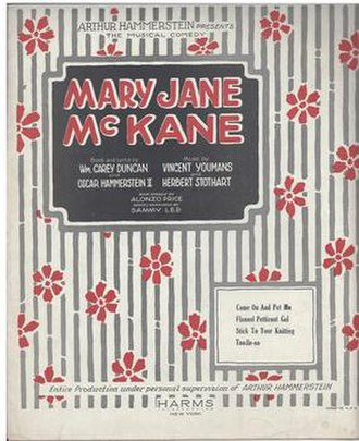 Mary Jane McKane - Sheet Music Cover