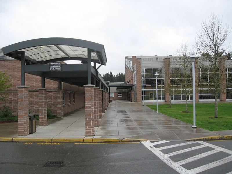 Meadowdale High School entrance.jpg