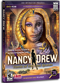 Nancy Drew - Tomb of the Lost Queen Coverart.png