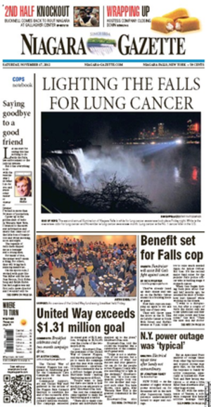 Niagara Gazette - Image: Niagara Gazette Cover