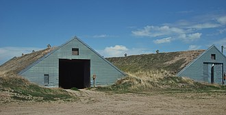 Root cellar - Two traditional sod-covered potato cellars in southeastern Idaho