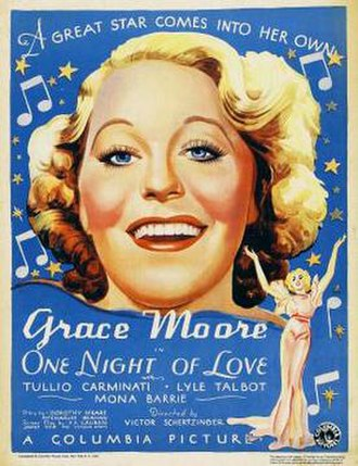 One Night of Love - Theatrical release poster