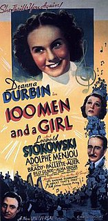 <i>One Hundred Men and a Girl</i> 1937 film by Henry Koster