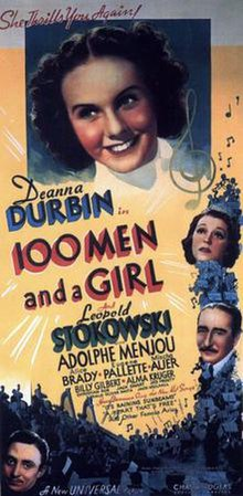 Original movie poster for the film One Hundred Men and a Girl.jpg