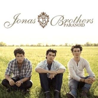 Paranoid (Jonas Brothers song) - Image: Paranoid navy