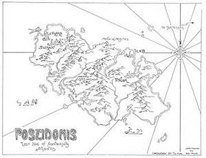 Poseidonis - Map drawn by Tim Kirk.