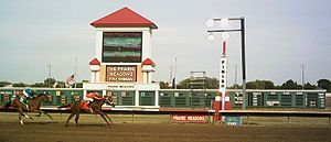 Casino meadow prairie racetrack matchbook gambling
