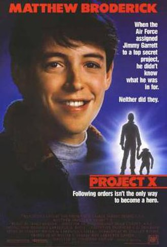 Project X (1987 film) - Theatrical release poster