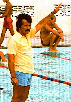 Randy Reese - Reese poolside in 1976