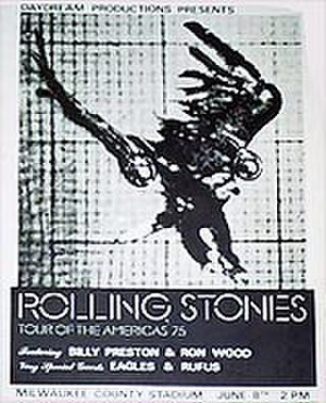 The Rolling Stones' Tour of the Americas '75 - Image: Rolling Stones Tour Of The Americas Poster