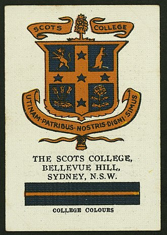Scots College (Sydney) - College Colours Certificate (1930)