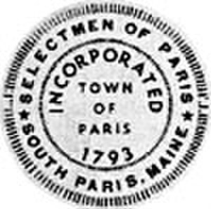 Paris, Maine - Image: Seal of Paris, Maine