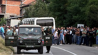 North Kosovo crisis - Serb blockade of a road in North Kosovo