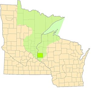 St. Croix County, Wisconsin - St. Croix County of 1840 and today