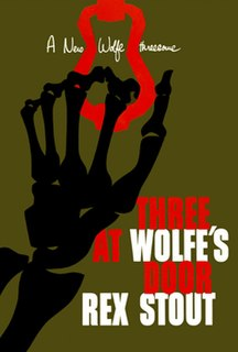 <i>Three at Wolfes Door</i> book by Rex Stout