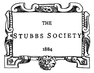 Stubbs Society - The motif of the Stubbs Society, designed by William Powers.