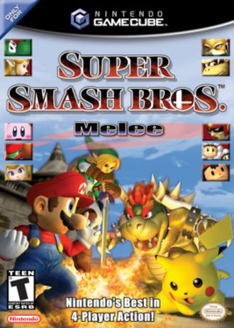Super Smash Bros. Melee - North American box art