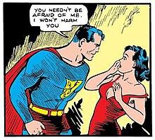 6ca05c34056 Lois Lane meets Superman in Action Comics #1 (June 1938), art by Joe  Shuster.