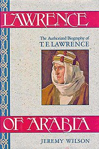 Cover of authorised biography of T.E. Lawrence by Jeremy Wilson.