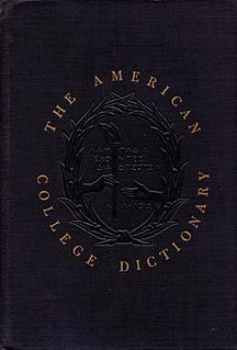 <i>American College Dictionary</i>